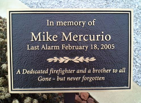 Mike Mercurio Memorial Marker