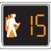 Graphic for countdown pedestrian signals
