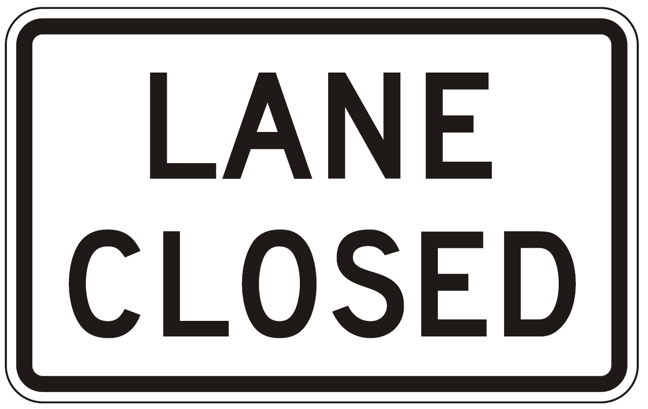 Graphic for a Lane Closure