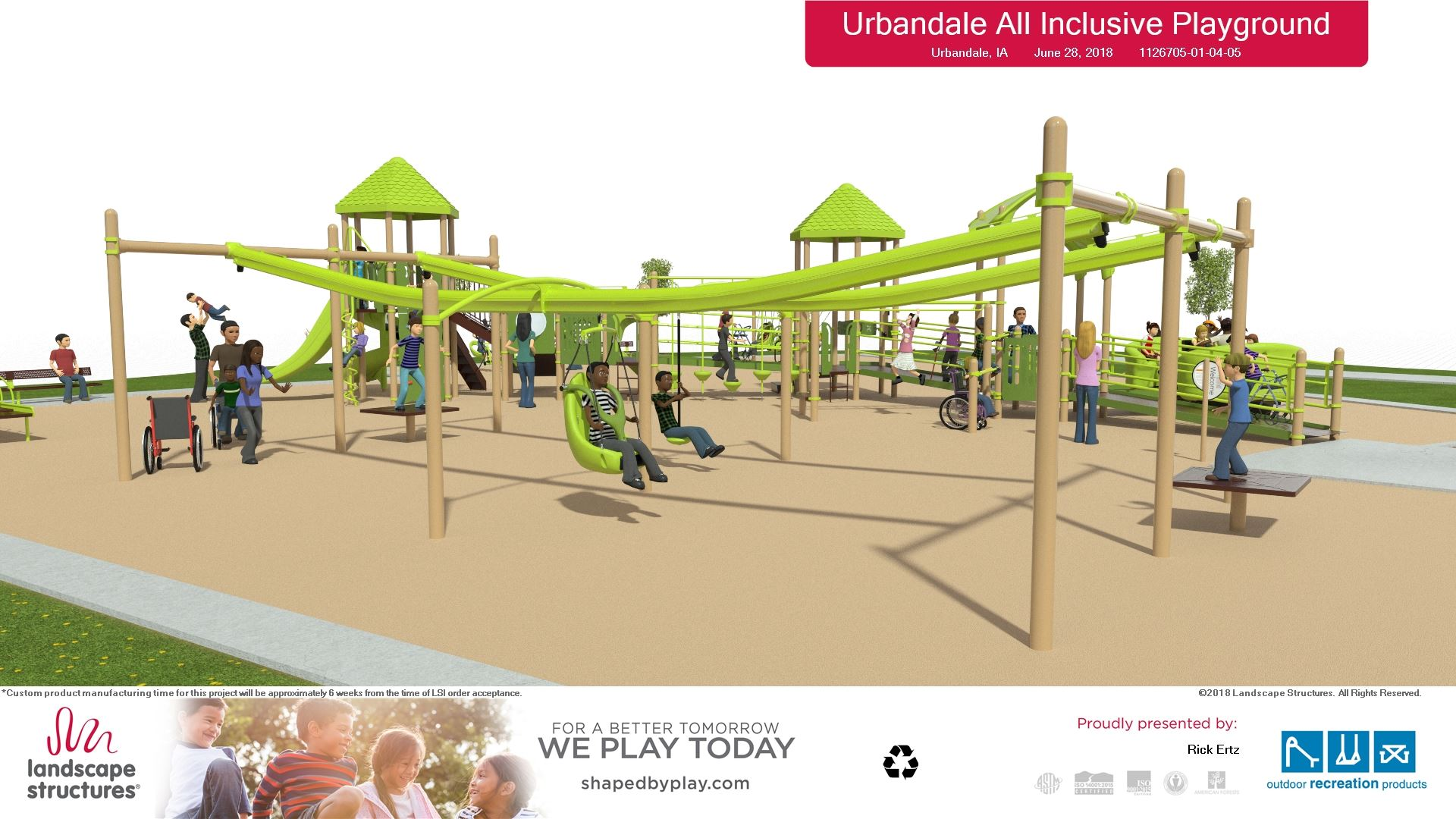 7-5-18  Playground rendering -view 2 -  Landscape Structures