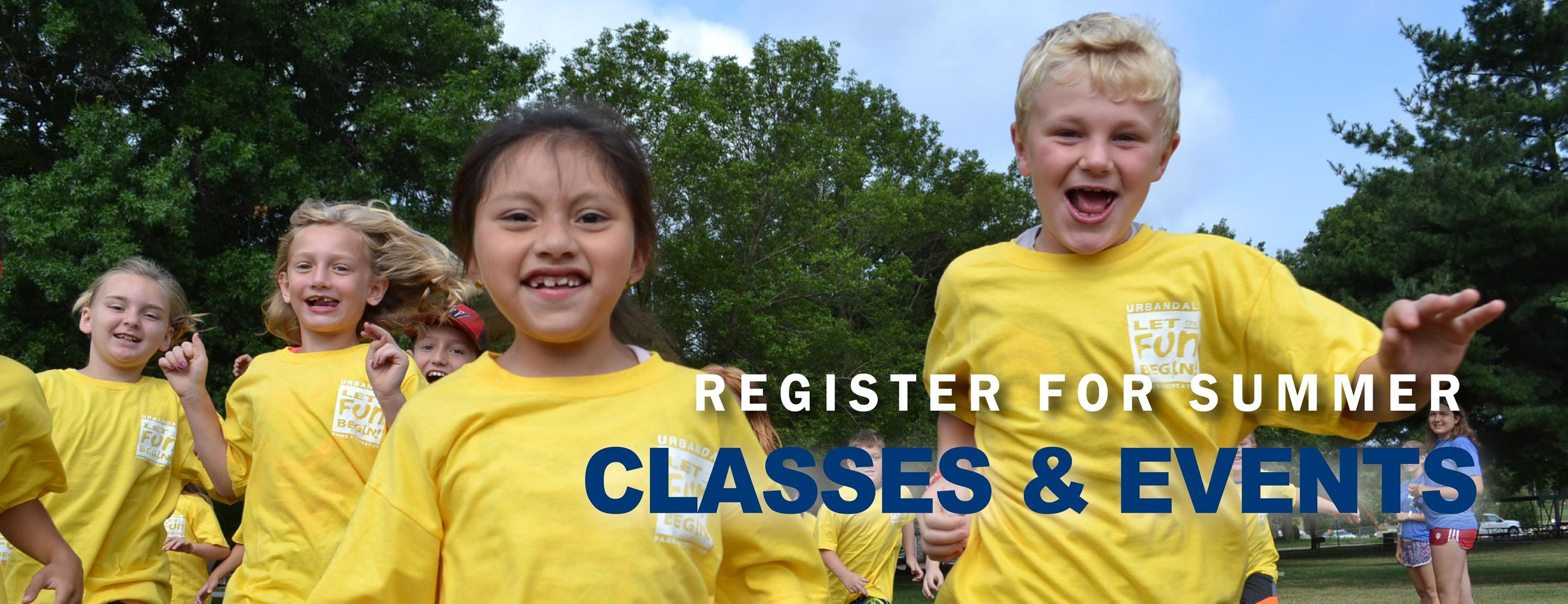 Register for Summer Classes and Events