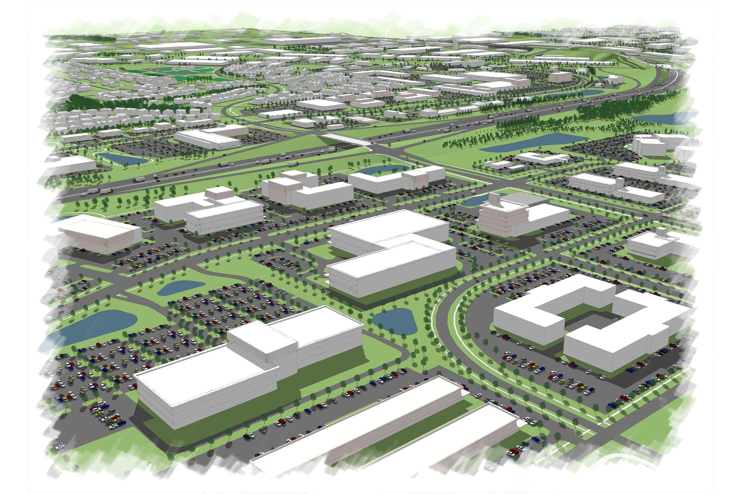 Rendering of the Urban Loop in Urbandale, IA