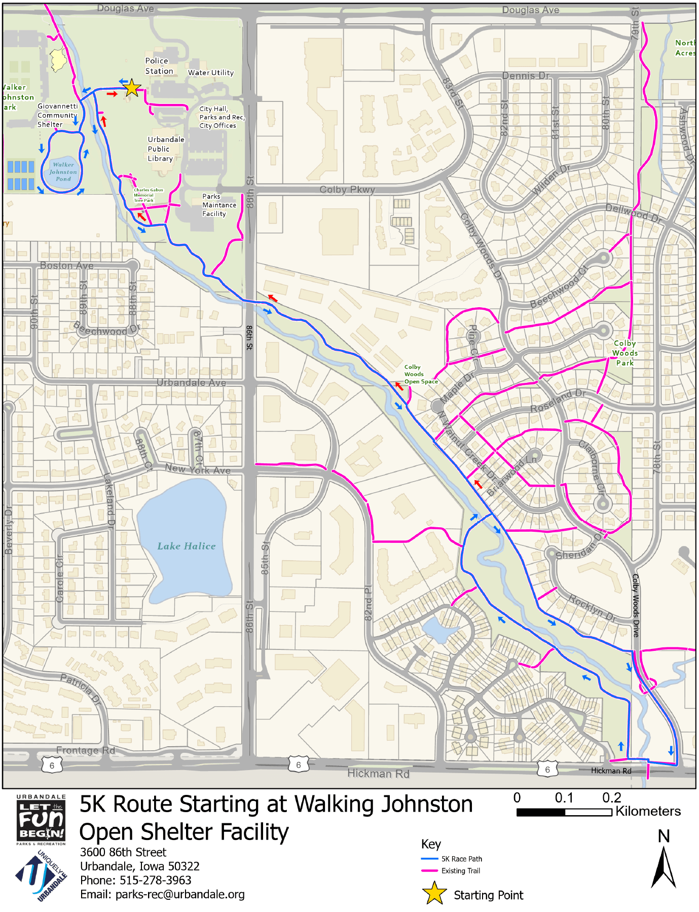 2018 Map of 5k Run
