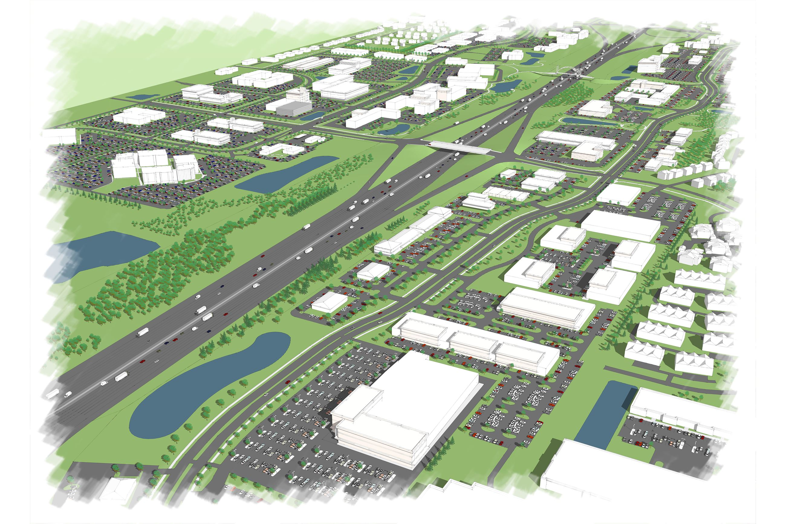 Renderings of the Urban Loop in Urbandale, IA