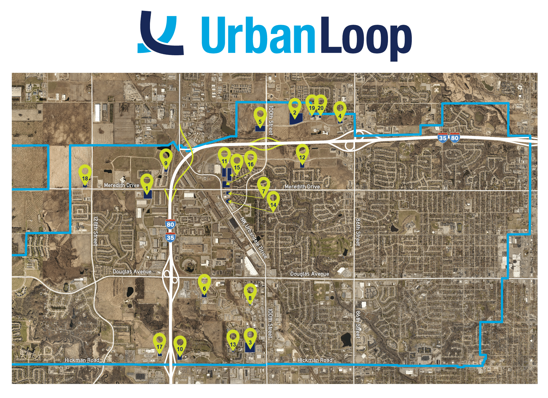 Urban Loop Project Map