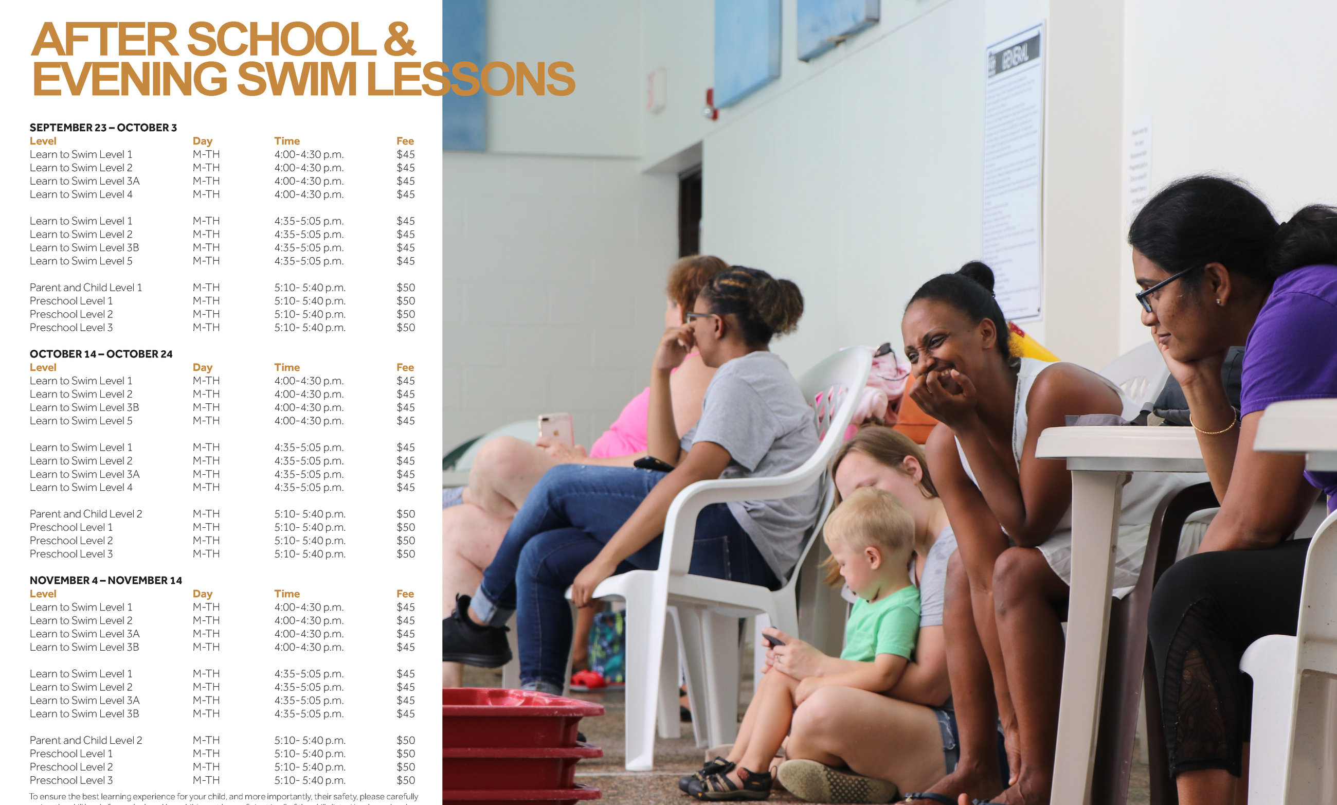 Swimming Lesson Schedule 2
