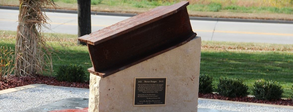 Photo of 9-11 Memorial Steel at Fire Station #42