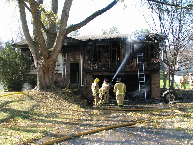 Firefighters extinguish the fire, but damage has been done